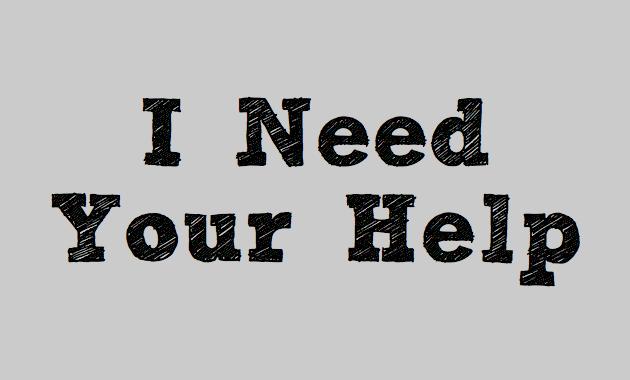Ik heb je hulp nodig!